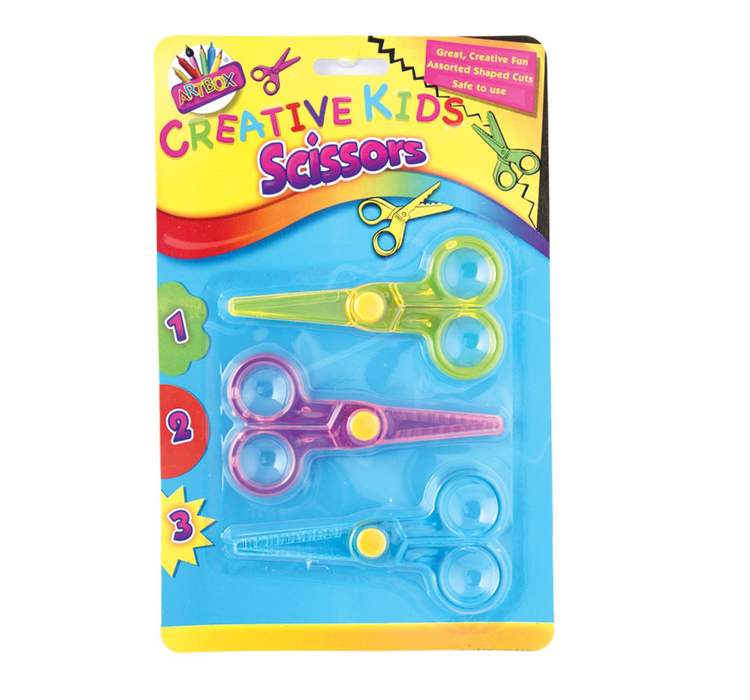 Artbox Creative Kids Scissors 3 Pack - Makers Central