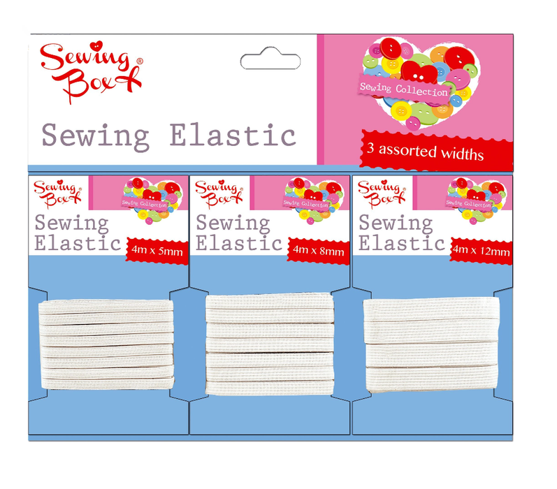 Sewing Box Sewing Elastic 3 Pack