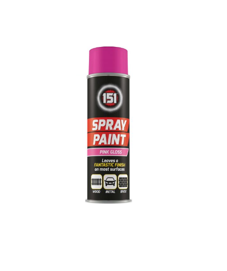 Spray Paint - Pink Gloss 200ml - Makers Central
