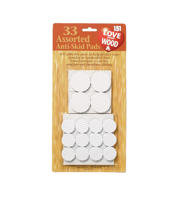 Anti Skid Pads Assorted 33 Pack