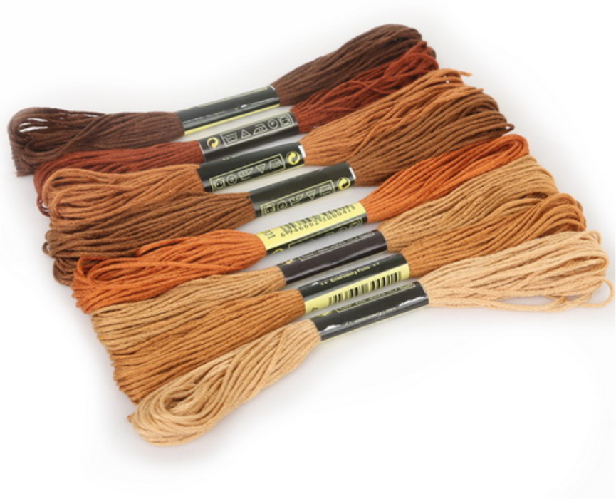 Embroidery Thread - Brown Shades - Makers Central