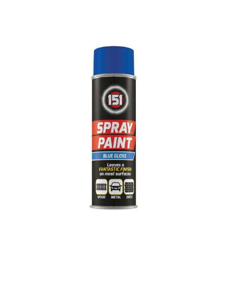 Spray Paint - Blue Gloss 200ml - Makers Central