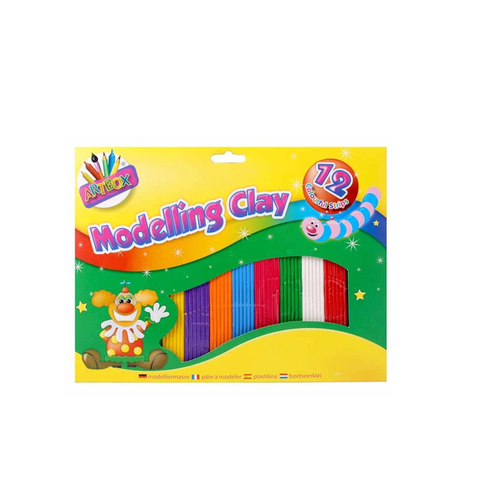 Artbox Modelling Clay Assorted Colours 12 strips