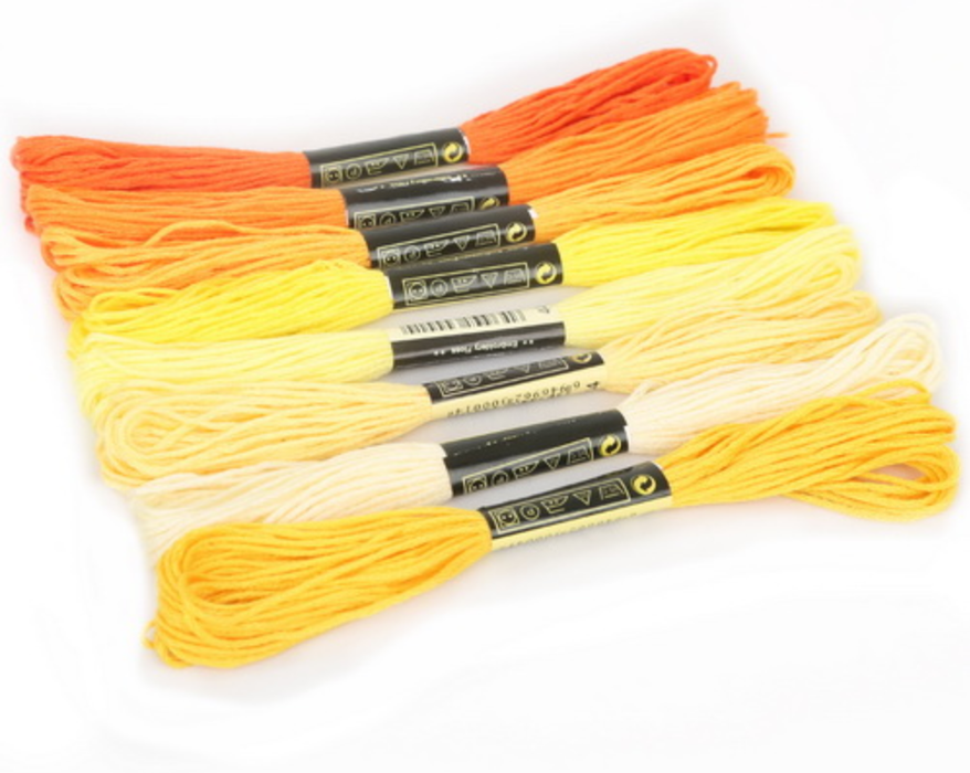 Embroidery Thread - Yellow Shades