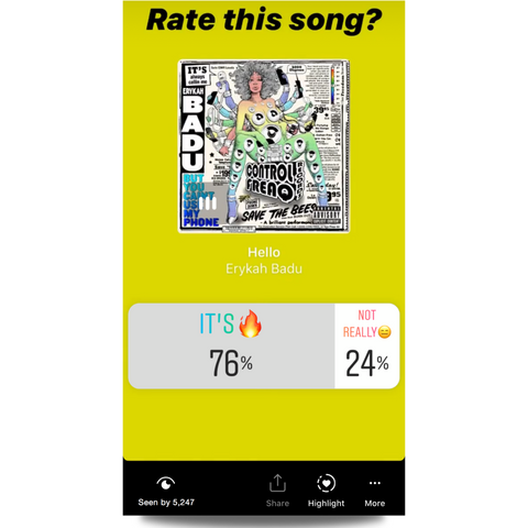IG Story Song Rating Feature🔥