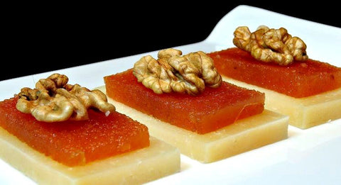 cheese with quince and nuts basque gastronomy