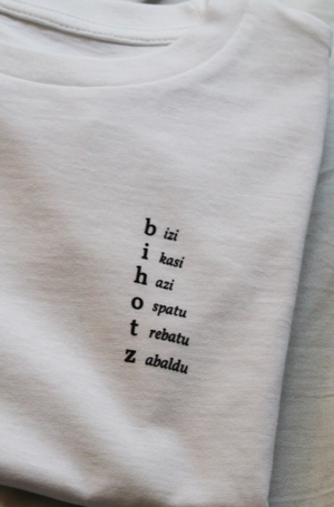 Bihotz Words Unisex T-shirt