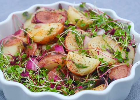 microgreens potato salad