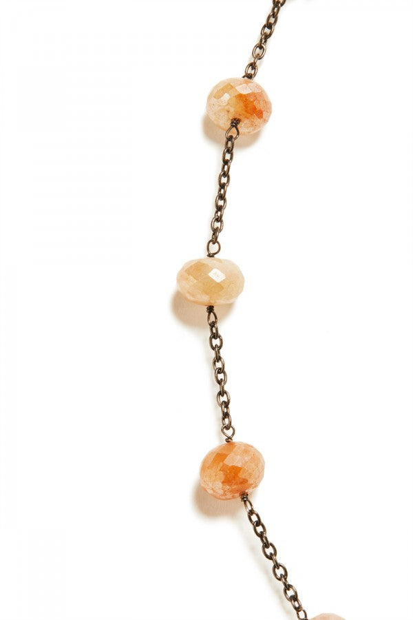 Canyon - Mystic Peach Moonstone Chain