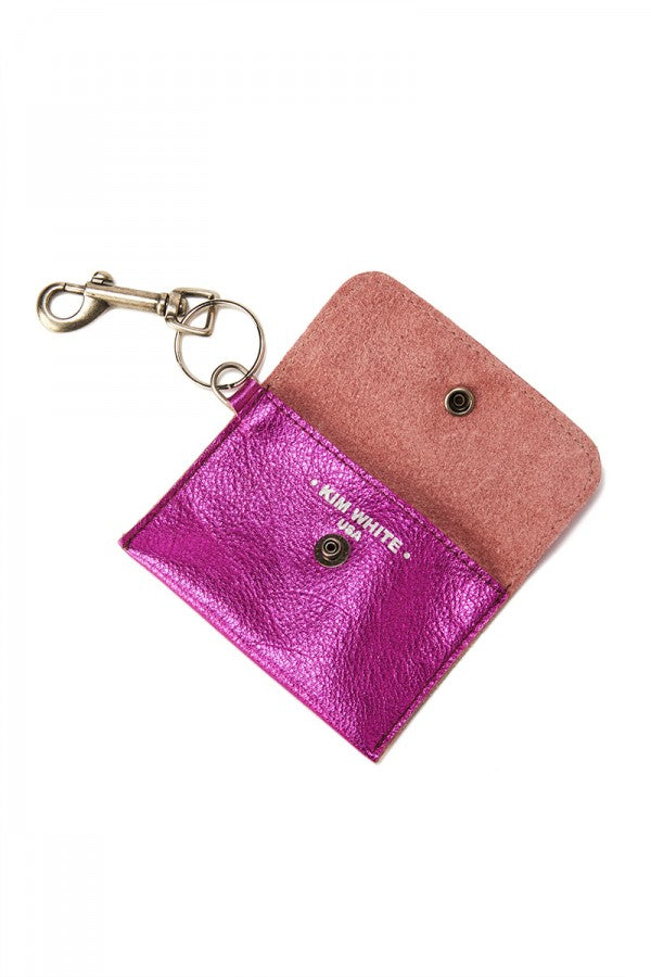 Metallic Leather Coin Purse