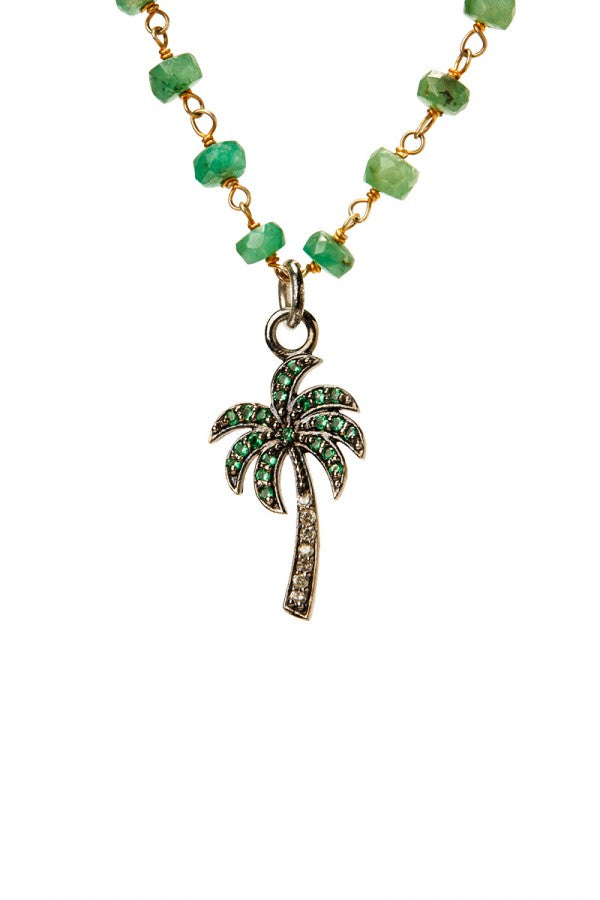 Paradise - Palm Tree, Emerald