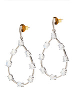 Morocco - Rainbow Moonstone Hoops