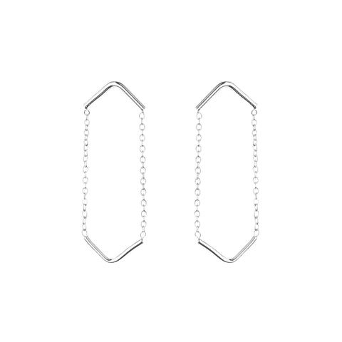Boucles double Unity Triangle - argent