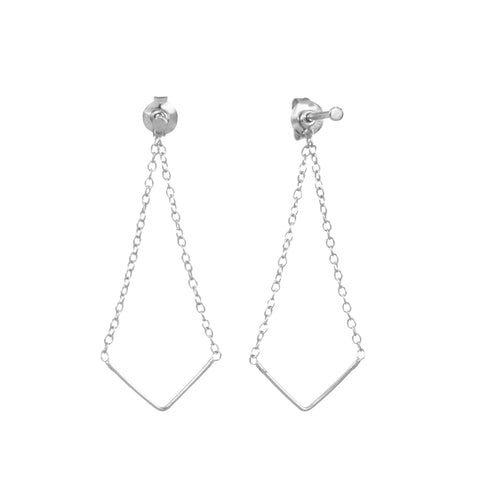 Boucles Unity Triangle - argent