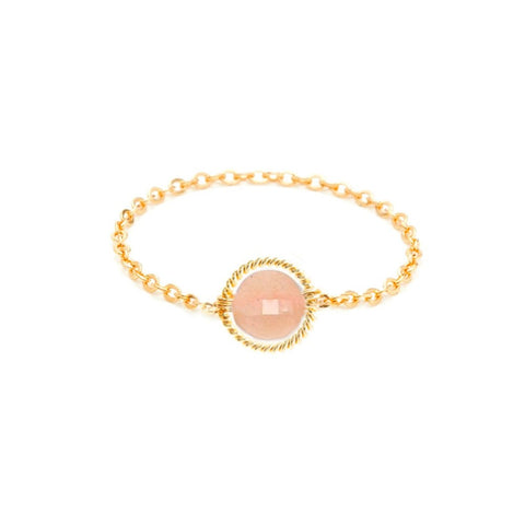 Bague chainette Riviera - rose