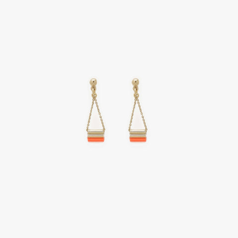 Boucles Little - tangerine