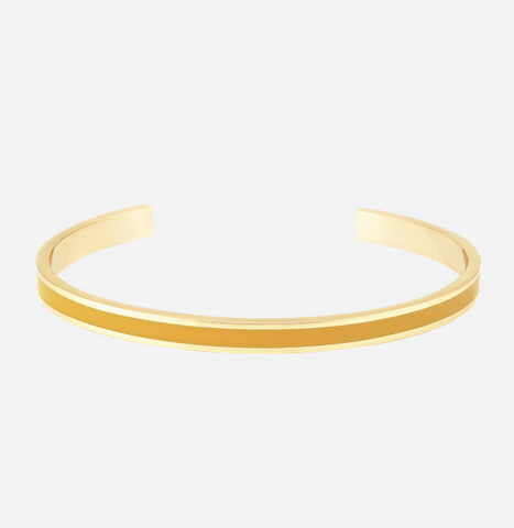Jonc Bangle - jaune safran - fin