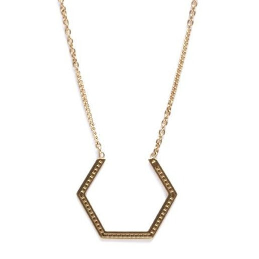 Collier hexagone strié