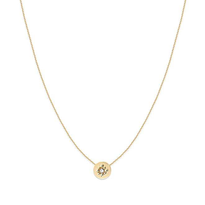 Collier court Gaia - Cristal