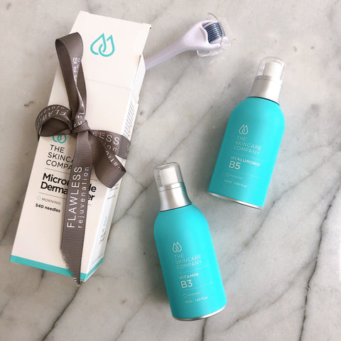 Derma Roller & Serum Duo Pack - The Skincare Company Hydrate and Restore