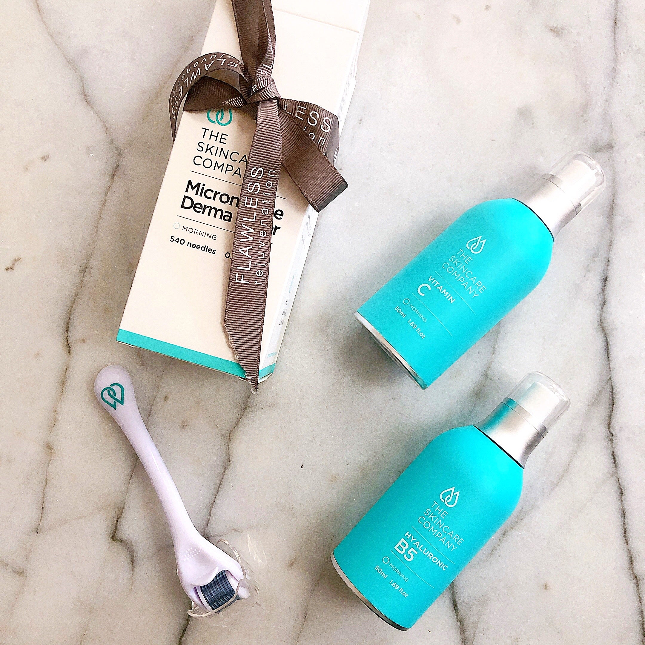 Derma Roller & Serum Duo Pack -  The Skincare Company Hydrate and Brighten