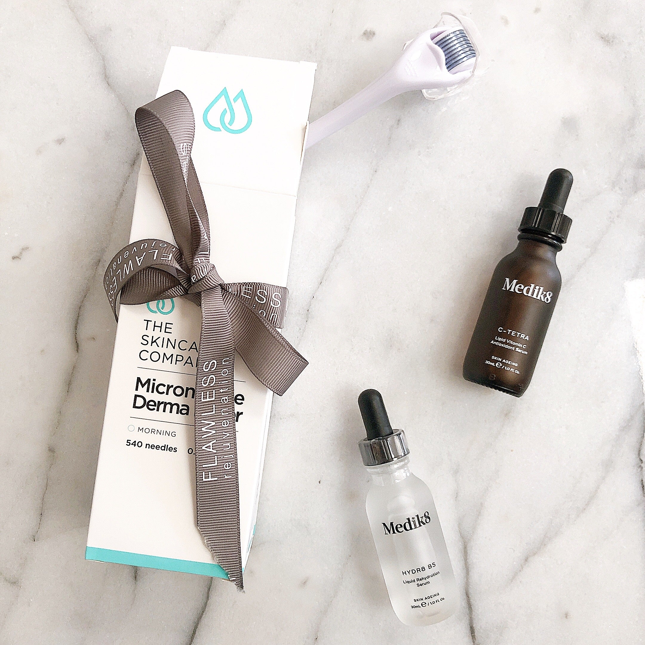 Derma Roller & Serum Duo Pack - Medik8 Hydrate and Brighten