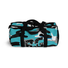 Load image into Gallery viewer, BG Cornhole Blue Camo Duffel Bag