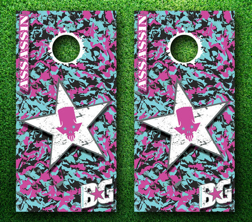 BG Assassin Miami Vice Pinnacle Pro Series Cornhole Boards
