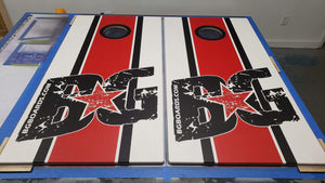 BG Racing Stripes Pinnacle Pro Series Cornhole Boards