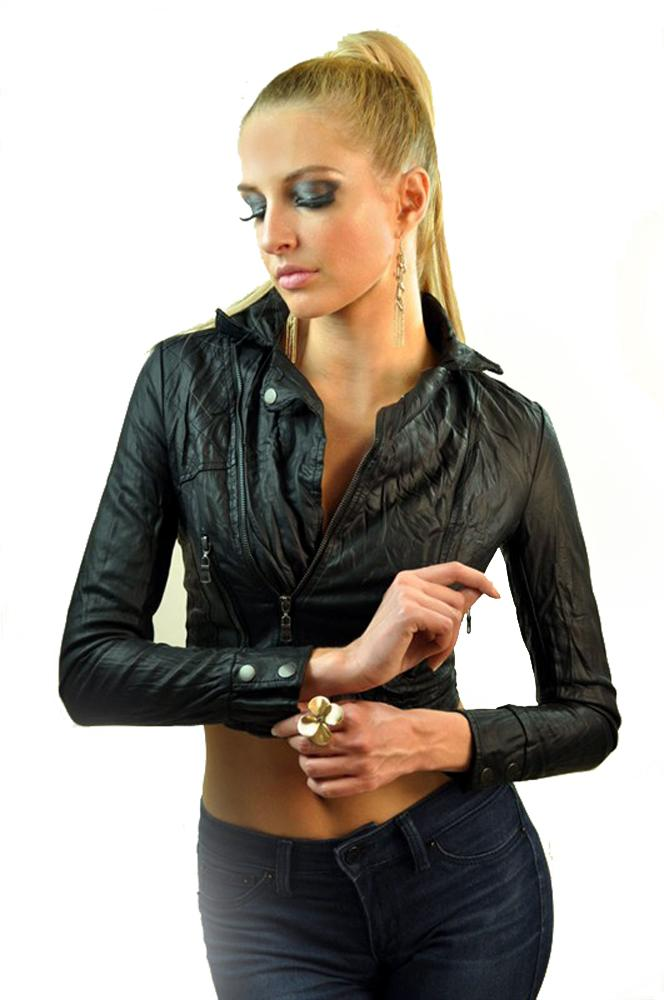 Women's Zip Up Motorcycle Jacket