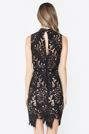 Estina Black Lace Dress