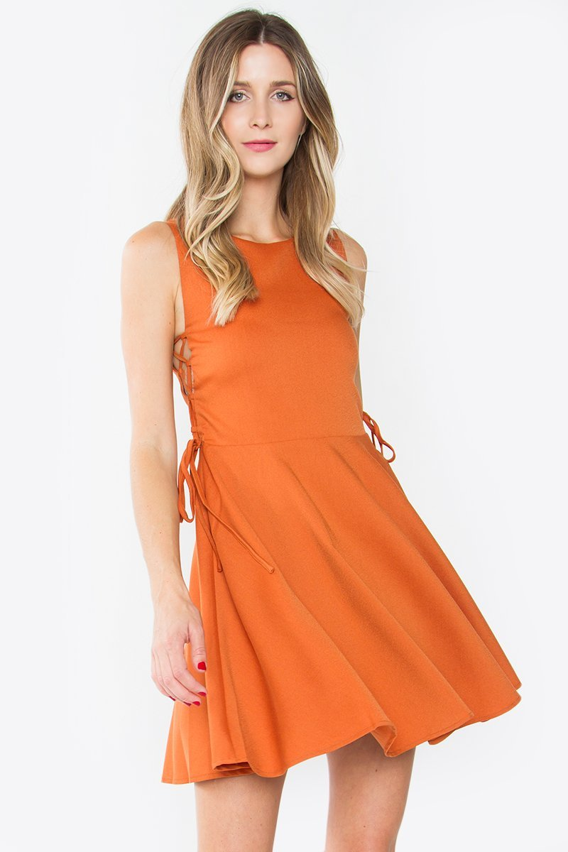 Sunrise Lace Up Dress