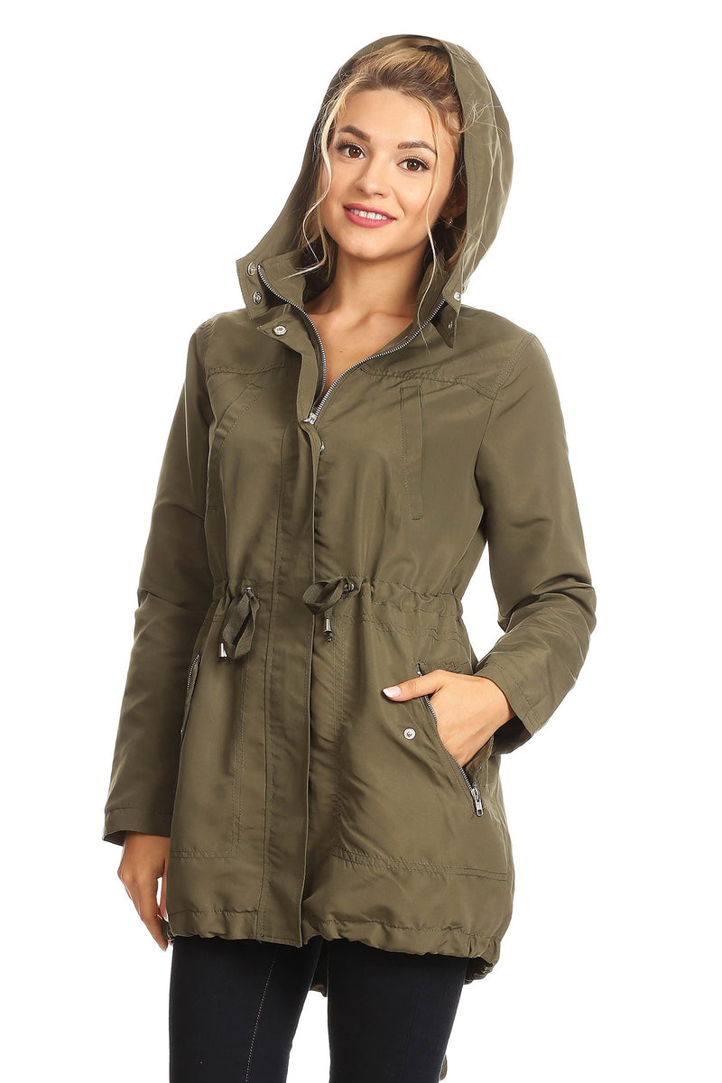 Hooded Utility Rain Jacket