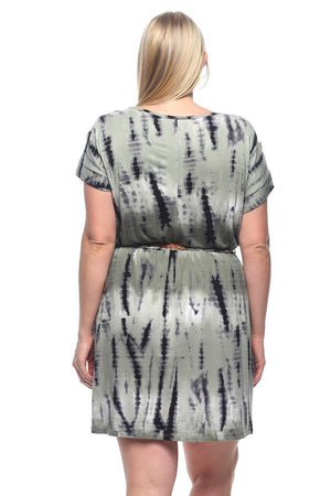 Plus Size Tye-Dye Dress