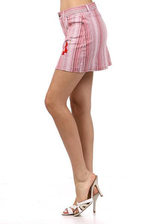 Striped Skirt With Rhinestone Accents