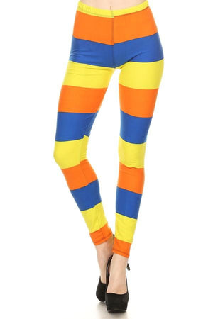Print Leggings Red Blue Orange