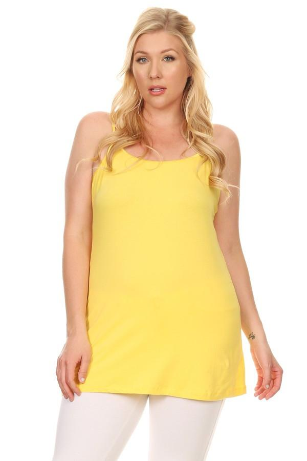Solid Long Body Sleeveless Camisole