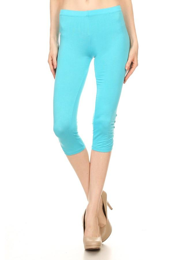 Solid Colored Capri Leggings
