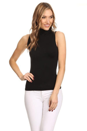 Solid Front Sleeveless Top