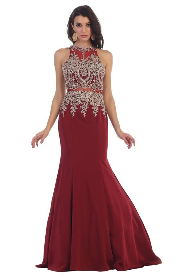 Classy Long Embroidered Gown