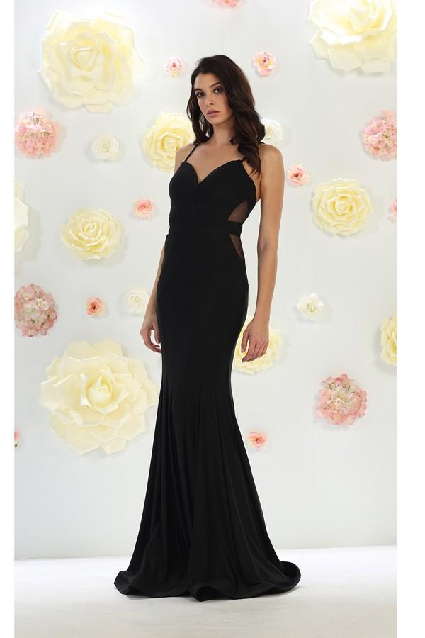 Sleeveless Deep Sweetheart Gown