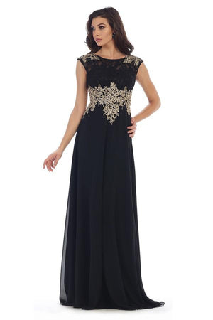 Lace Embroidered Dress With Leaf Design