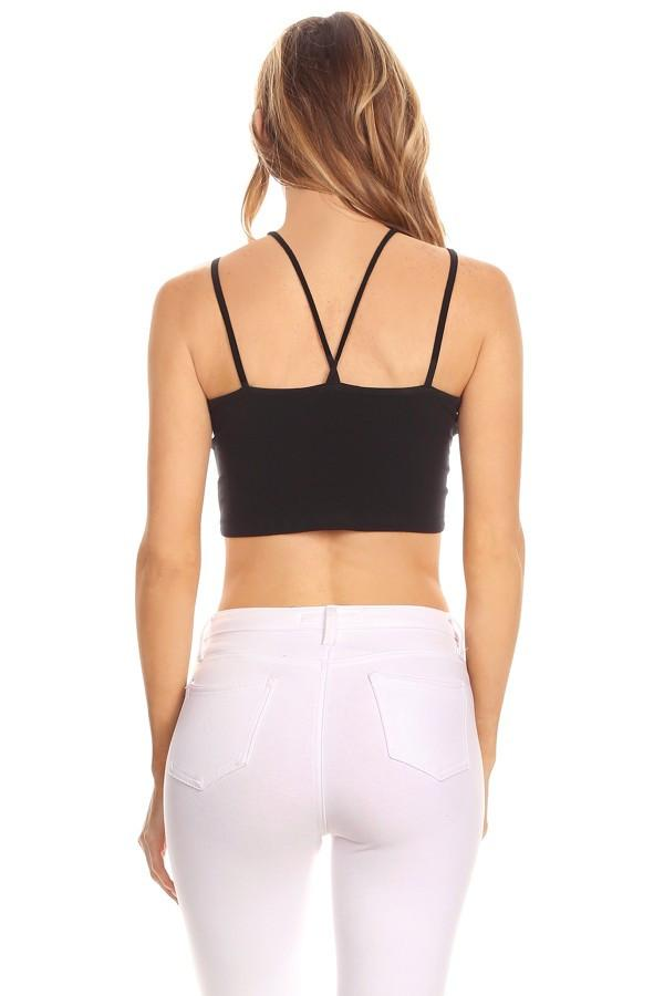 Fitted Sleeveless Crop Top