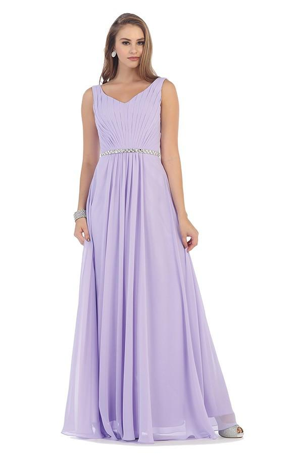 Sleeveless Parachute Gown With Belt