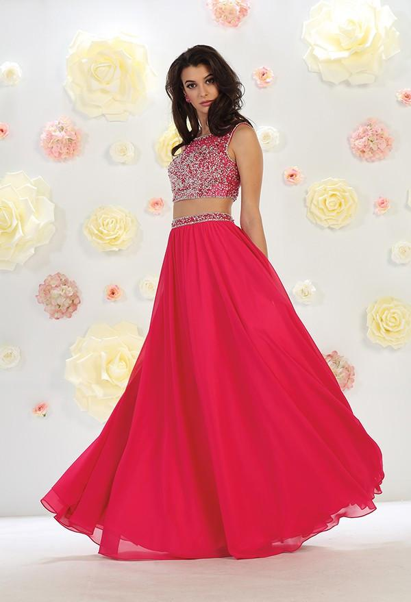 Cap Sleeve Long Beaded Gown