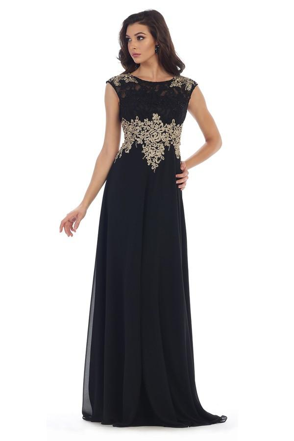Laced Embroidered Gown