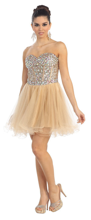 Short Prom Dress with Corset Back