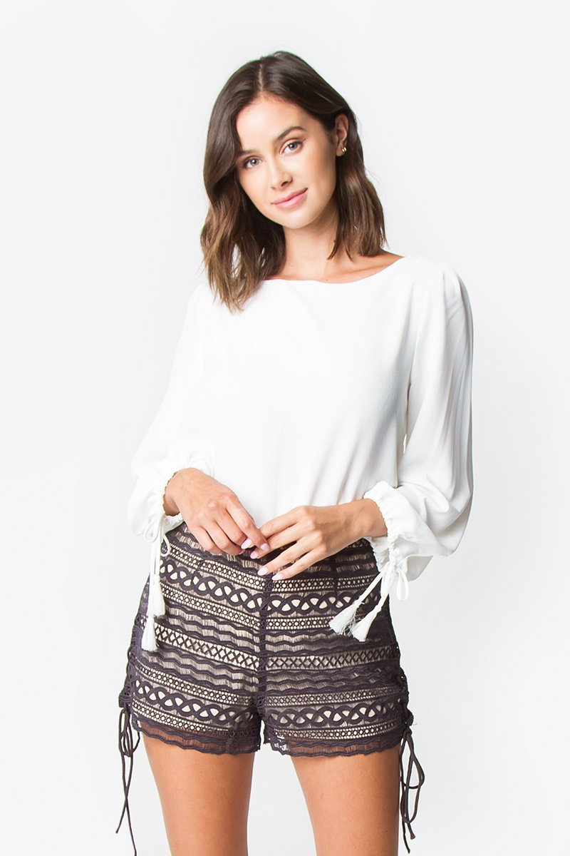 Rosetta Crochet Lace Shorts