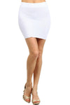 Women's Solid Ribbed Mini Skirt
