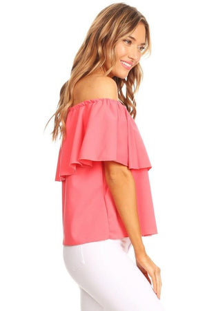 Women's Short Sleeve Off The Shoulder Blouse